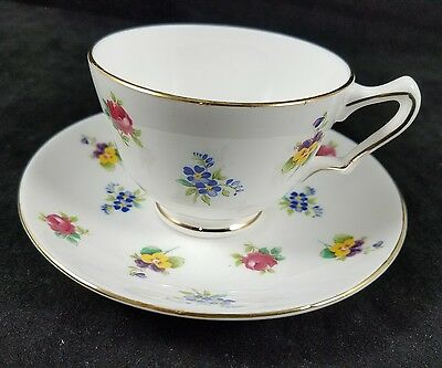 Collectible Crown Staffordshire Fine Bone China Tea Cup And Saucer Set, England
