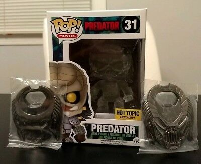 Funko Pop! Predator (Invisible Bloody) Hot Topic Exclusive with 2 bottle openers