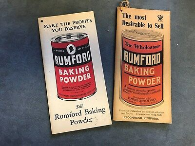 Rumford Baking Powder, 2 Booklets for Recording Sales