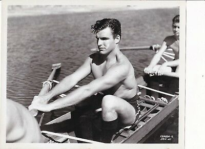 Vintage Original Photo Actor   Handsome Beefcake Shirtless   Gay Intrest