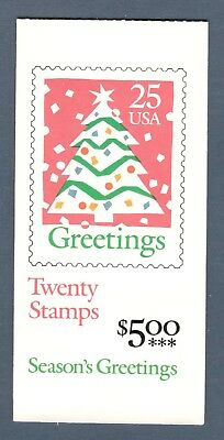 2516a (BK181) Christmas Tree Booklet Mint/nh Selling @ Face