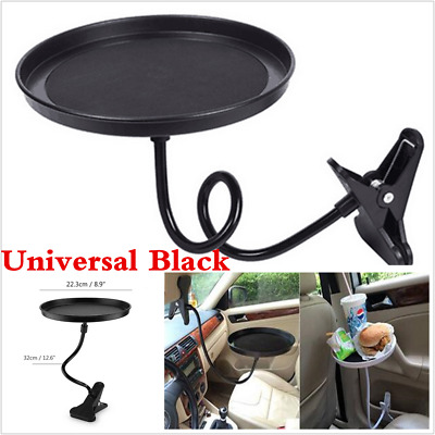 1PCS Car Swivel Mount Holder Travel Drink Cup Coffee Table Stand Food Tray Black