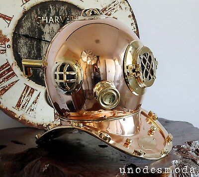 BRASS COPPER DIVING HELMET FULL SIZE DEEP SEA fancy birthday gift present decor