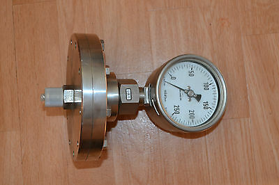 Plate Spring Manometer Duratherm 600 / Stainless Steel/0-250 Mbar / Kl : 1,6