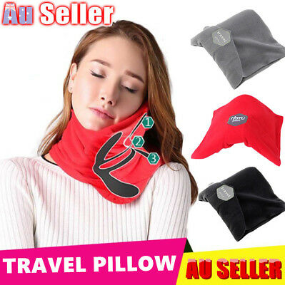 Portable Soft Comfortable T-Pillow Travel Pillow Proven Neck Support Sitting Nap