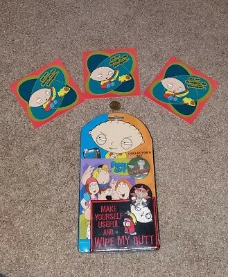 Family Guy Collector's Set * Stewie Peter * Patches Pins Stickers * brand NEW