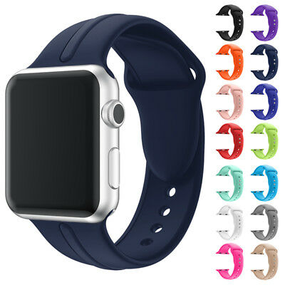 Silicone Sport Band Strap For Apple Watch 1/2/3 Series 38/42MM iWatch 38mm/42mm