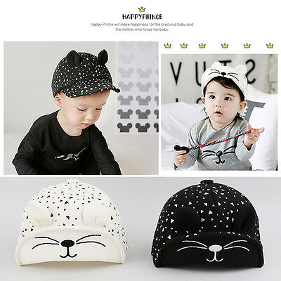 Unisex Boys Girls Kids Baby Cute Cotton Baseball Cap Sun Visor Cap Hat pop