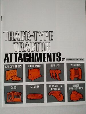 Original 1960's Caterpillar Track-Type Tractor Attachments 27 page Brochure