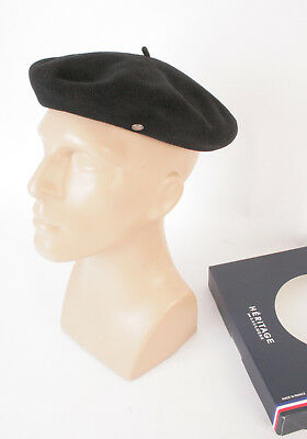 "LAULHERE ""Heritage"" Authentique beret basque - Made in France 100% laine - Noir"