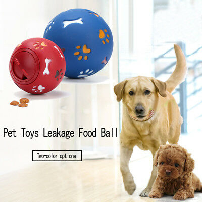 1 pc Rubber Ball Chew Treat Food Dispensing Holder Pet Dog Cat Training Toy