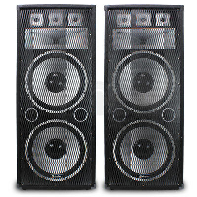 "2x Vonyx 2 x 15"" Dual TX215 Passive Speakers Bass Large PA EVENT 1500W SSC2295"