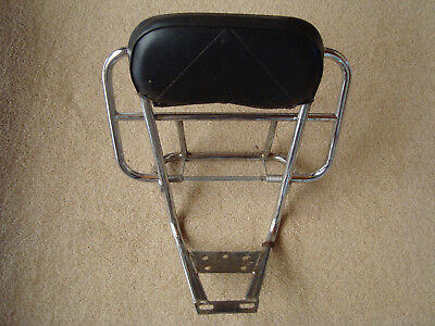 Vespa Chrome Backrest. Genuine Piaggio Italian - FREE UK POST