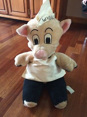 Vintage Piggly Wiggly Grocery Store Stuffed Animal Plush Pig Display By Etone Co