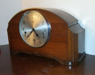 Smiths Enfield London. 1950s Westminster chime clock