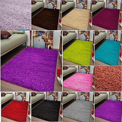 Shaggy Rugs Thick Plain Soft Shaggy Rugs Living Room Rug Bedroom Floor All Size