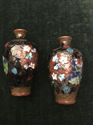Pair of antique cloisonne vases