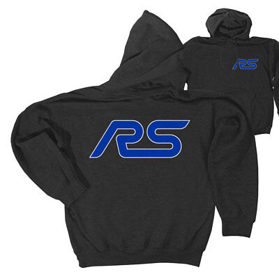 Apparel Hoodie Pull-Over Gray With Blue RS Logo Medium