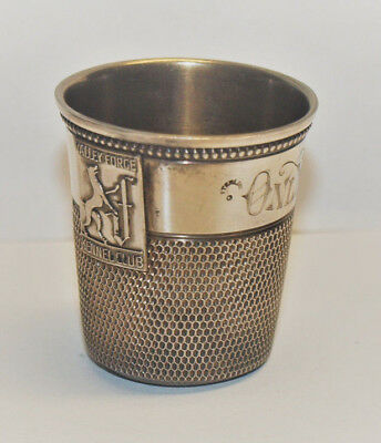 Fingerhut groß ONLY A THIMBLE FULL Sterling VALLEY FORGE KENNEL CLUB