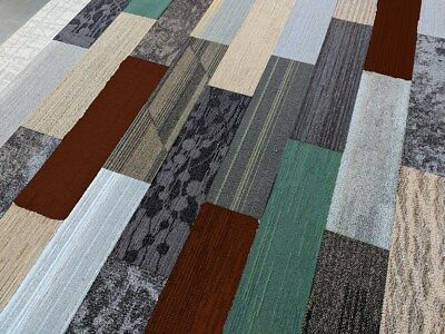 Biscuit's Odd Lot Plank Carpet Tiles (Earth Family) 54 Sq. Ft. Per Box