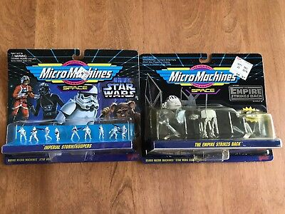 Star wars micro machines imperial stormtrooper set & Empire Strikes Back Vehicle