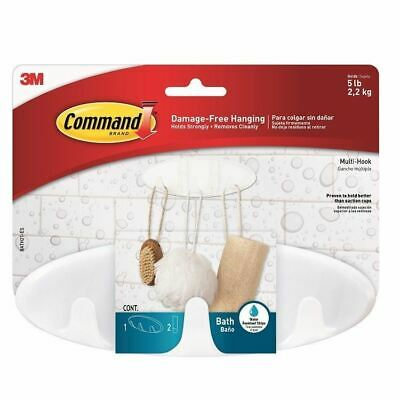 3M Command Bathroom Multi Hook (BATH21-ES) - Water Resistant Hooks and Strips