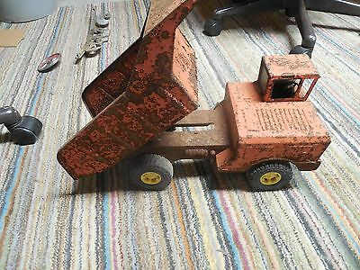 Collectible Old Rustic Vintage Red Pressed Steel Hylints Dump Truck- Needs Work