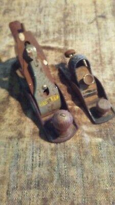 pair of antique Stanley Wood planes