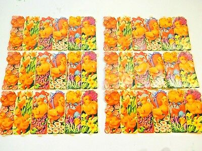 2 Vintage Sheets of Easter Scraps Baby Chics Chickens MP #952