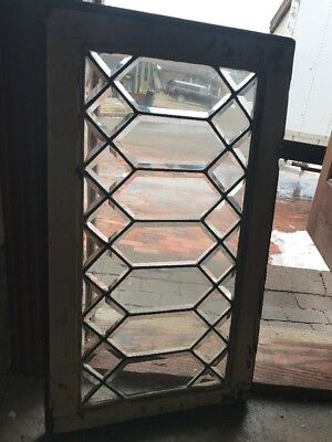 Sg1772 Antique All Bubble Glass Transom Window 18.5 X 32.5