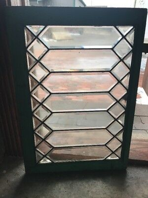 Sg1773 Antique All Beveled Glass Transom Window 21 X 30.25