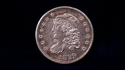 1829 Capped Bust Half Dime **AU, Peripheral Toning** FANTASTIC COIN!!