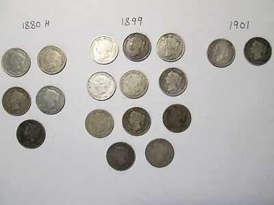 Lot of Canadian 5 cent silver coins