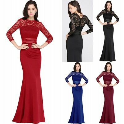 Babyonline Long Evening Party Dress Formal Bridesmaid Dresses Prom Cocktail Gown