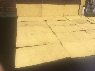 162 Sq. Feet Salvaged  Antique Tin Decorative Pattern Ceiling Tiles - Very Good