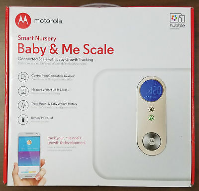 Motorola Smart Nursery Baby & Me Scale ~ SEALED Bluetooth Track Weight MBP84SN