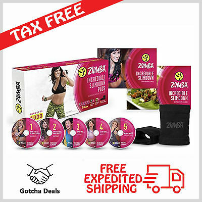 Zumba DVD Set Beginners Dance Workout Slimdown System 5 Disks English Spanish