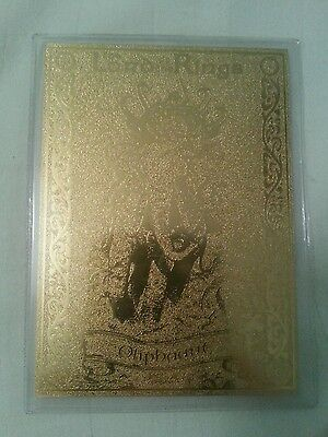 Rare 22Ct Gold Lord Of The Rings Danbury Mint Trading Card Oliphaunt