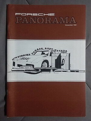 1981 November Porsche Panorama Magazine Carrera 911 928 944 924 356 Turbo
