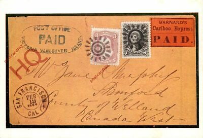 Picture Postcard:;Cariboo Express Mail Cover, Usa (Repro), Postcard