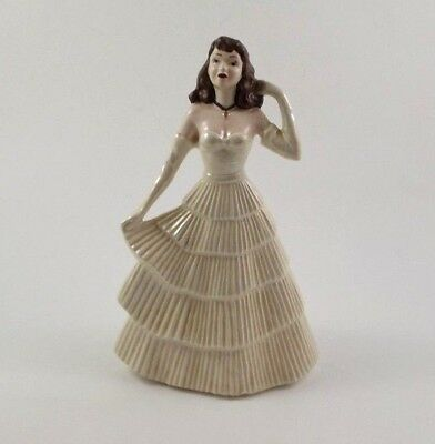 "Vintage 8"" Porcelain Figurine - Woman / Lady in Ball Gown - Signed & Dated 1963"