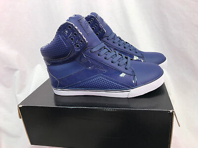 a0d93f170 Pastry Pop Tart Grid Navy High Top Sneakers, Womens Size 8.5, New in Box
