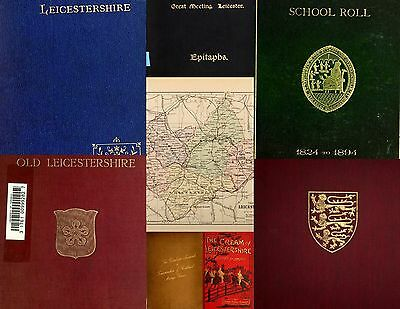 The History & Genealogy of Leicestershire. Huge Rare book collection on DataDisc