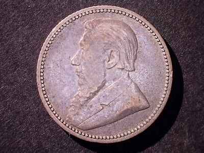 1892 6 pence South Africa silver coin KM#4 28,000 minted