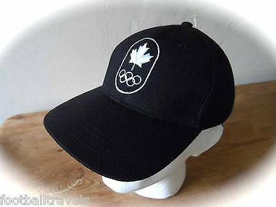 TEAM CANADA WINTER OLYMPICS CAP Casquette Hat BLACK Hudsons Bay NEW TAGS