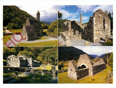 Picture Postcard:-Co. Wicklow, Glendalough, Churches (Multiview)