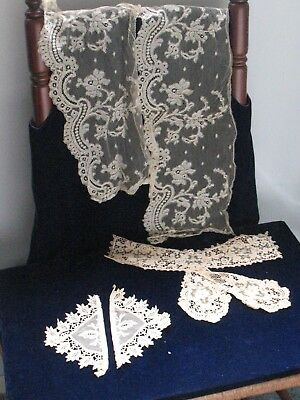 Victorian Antique lace and Handmade Lace...Variety of pieces