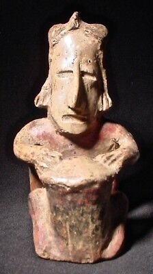 Pre-Columbian Seated Drummer Jalisco Mexico