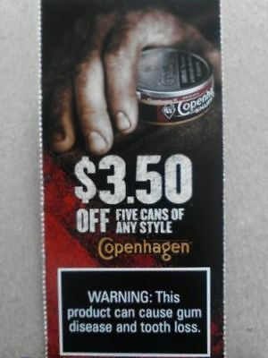 $3.50 OFF COPENHAGEN COUPON and $1.25 OFF COPENHAGEN COUPON