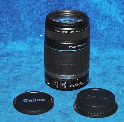 Canon EF-S 55-250mm f/4.0-5.6 IS Lens Image Stabilization 58mm Filter Autofocus